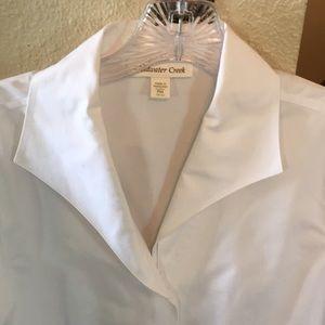 Crisp white shirt button down PM coldwaterCreek